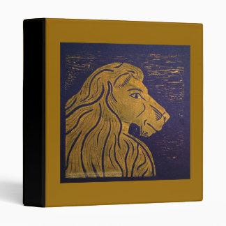 Lion (Gold & Black) Avery Binder