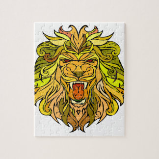 Lion graphic design puzzles