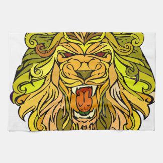 Lion graphic design towel