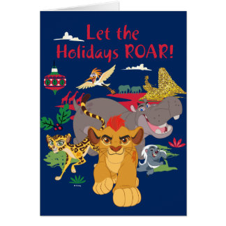 Lion Guard | Let The Holidays Roar Card