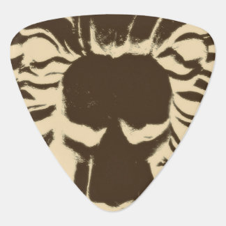 Lion head brown guitar pick