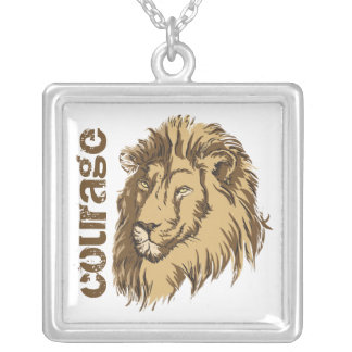 Lion head custom Courage custom silver pendant
