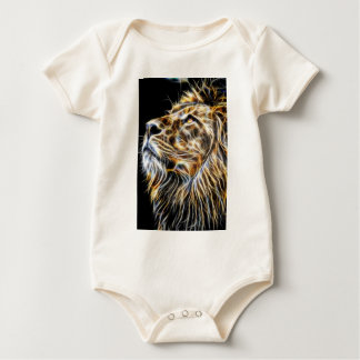 Lion Head Glowing Fractalius Baby Bodysuit