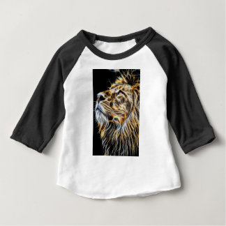 Lion Head Glowing Fractalius Baby T-Shirt