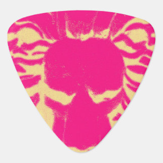 Lion head hot pink guitar pick