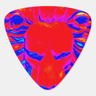 Lion head hot red guitar pick