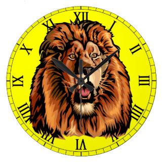 lion head large clock