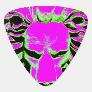 Lion head purple guitar pick
