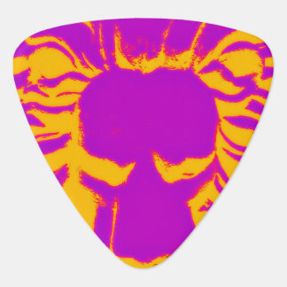 Lion head purple shock guitar pick