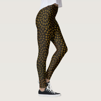 Lion Head Spiral Abstract Pattern, Leggings