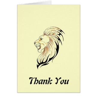 lion head Thank You Note Card