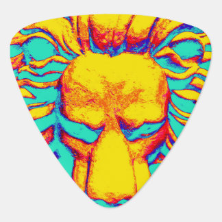 Lion head turquoise guitar pick