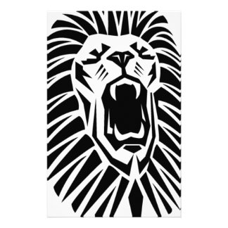 lion head vecto stationery