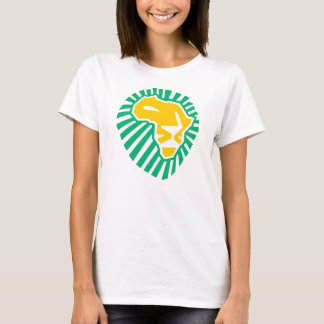Lion Head Waka-waka yellow blue women t-shirt