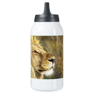 Lion Head Wildcat African Wildlife Animal Insulated Water Bottle
