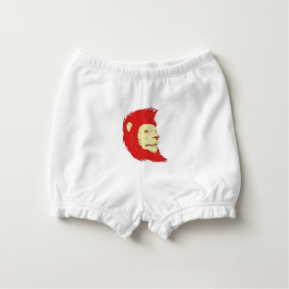 Lion Head With Flowing Mane Drawing Diaper Cover