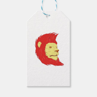 Lion Head With Flowing Mane Drawing Gift Tags