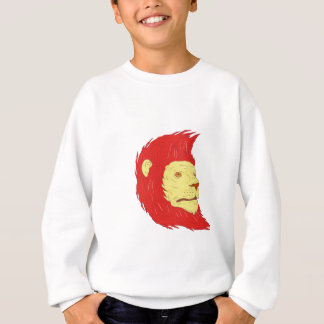 Lion Head With Flowing Mane Drawing Sweatshirt