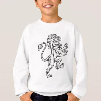 Lion Heraldic Style Drawing Sweatshirt