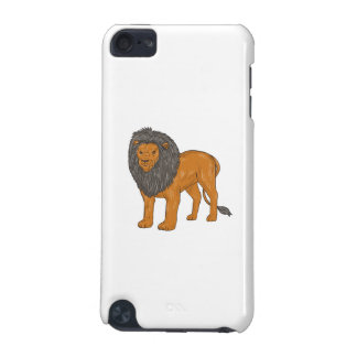 Lion Hunting Surveying Prey Drawing iPod Touch 5G Cover