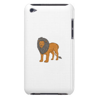 Lion Hunting Surveying Prey Drawing iPod Touch Case