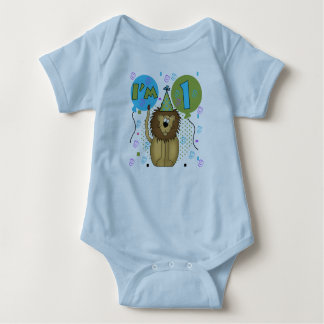 Lion I'm 1 First Birthday Baby Bodysuit