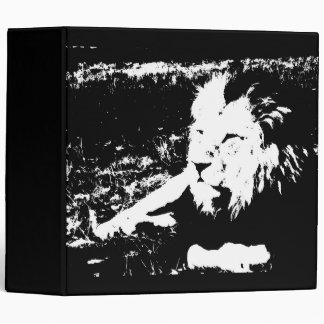 Lion in Black and White Binders