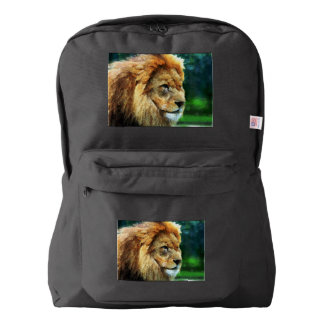 Lion In Nature Impressionist Art Backpack