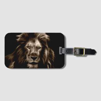 Lion in Sepia Luggage Tag