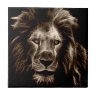 Lion in Sepia Tile