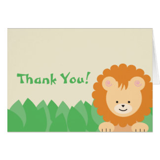 Lion in the Jungle Thank You Card