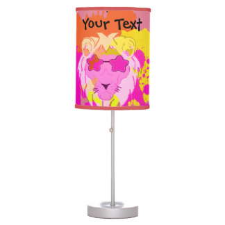 Lion in the paint table lamp