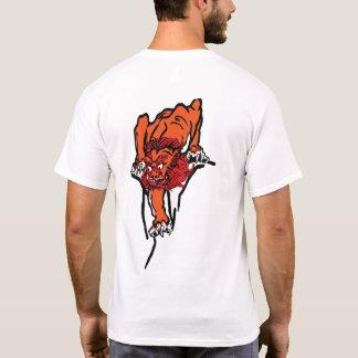 lion Japanese style back T-Shirt