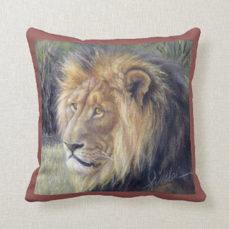 """Lion King and Queen 16"""" x 16"""" Throw Pillow"""
