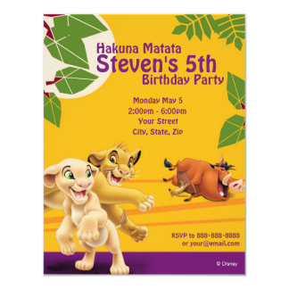 Lion King Birthday Invitation