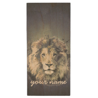 LION KING | Custom Maple Wood USB Flash Drive