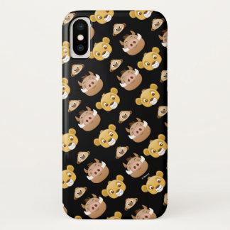 Lion King Emoji Land Pattern iPhone X Case
