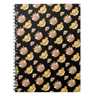 Lion King Emoji Land Pattern Notebook