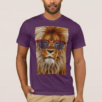 lion king of hipster wild cat fractal tshirt