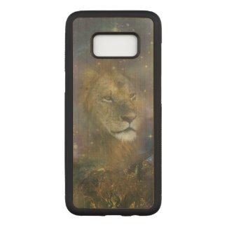 Lion King of Jungle Beasts Carved Samsung Galaxy S8 Case