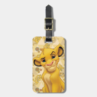 Lion King | Simba on Triangle Pattern Luggage Tag