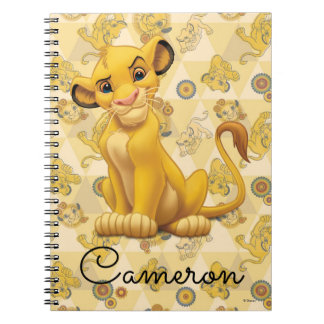 Lion King | Simba on Triangle Pattern Notebooks