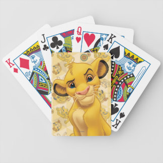Lion King | Simba on Triangle Pattern Poker Deck