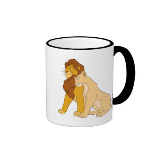 Lion King's Adult Simba and Nala Disney Ringer Mug