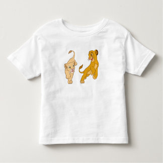 Lion King's Simba and Nala Playing Disney Toddler T-shirt