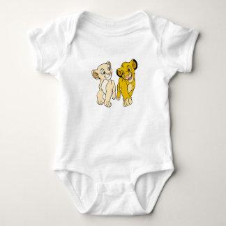 Lion King's Simba & Nala smiling Disney Baby Bodysuit