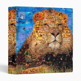 lion - lion collage - lion mosaic - lion wild binder