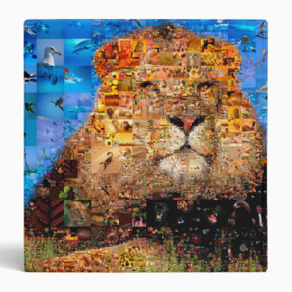 lion - lion collage - lion mosaic - lion wild binders