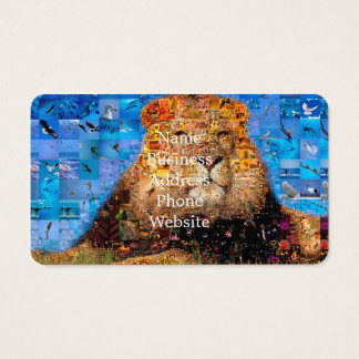 lion - lion collage - lion mosaic - lion wild business card