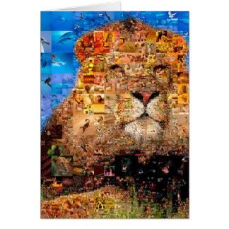 lion - lion collage - lion mosaic - lion wild card
